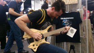 All Tesla wood custom made by Skervesen at Namm 2018