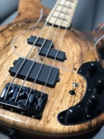 Luthier and player Fernando Giovannetti ``X-Vector Bass`` Spalted Walnut top