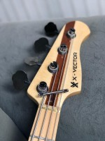 Luthier and player Fernando Giovannetti ``X-Vector Bass`` Burl poplar top
