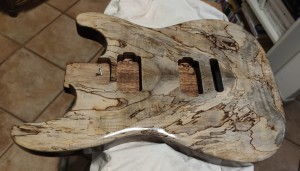 Spalted Maple Stratocaster    by    Alessandro Falasca