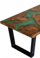 Burl Elm Epoxy river coffee table