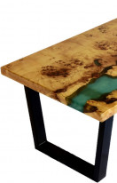 Epoxy Burl poplar coffee table