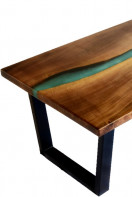 Epoxy river walnut coffee table